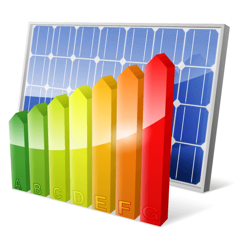 Solar Panel with Energy Efficiency Rating